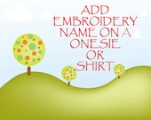 Lily & Max- Add embroidery name on a onesie or shirt