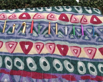 Crochet Hook Case Organizer Holder  Holds 12 Crochet Hooks Multi Color Shape Light Weight  Keeps all your hooks together