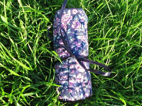 Crochet Hook Organizer/ Holder - Holds 12 Needles - Flowered Pattern