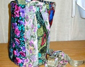 Ladies/women purse/bag made from men's silk necktie / bucket style with adjustable long/short straps: DESIGN YOUR OWN