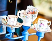 Alice in Wonderland Tea Cups Candelabra Sculpture