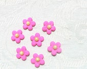 50 Hot Pink Tiny Gum Paste Blossoms