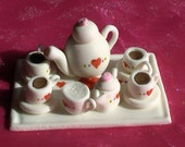 Gum Paste Miniature Tea Set