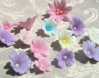 Pastel Gum Paste Flowers Variety