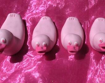 Pink Gum Paste Rubber Ducks