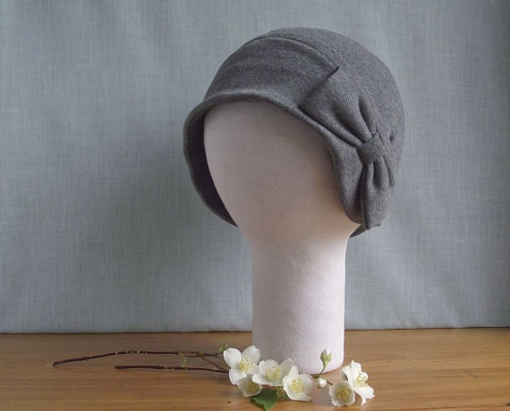 CUSTOM Cloche Hat with Big Bow