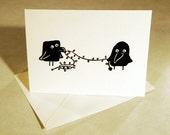 Christmas Ravens- Blank Christmas Card