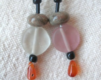Jasper carnelian glass Earrings