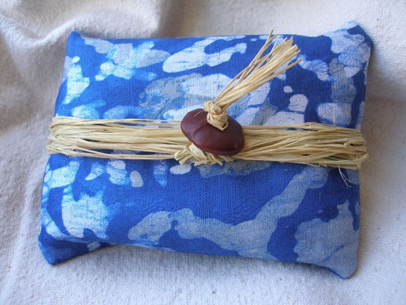African blue batik Fabric Ecofriendly reusable Gift wrapping by Fianaturals on Etsy(ADD-ON)