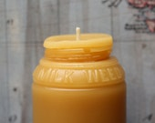 Beeswax Candle - Sm. Milk Weed Cream Jar - by Pollen Arts -