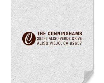 Personalized Stamp - Custom Address Stamp - Personalized Address Stamp - One Letter Monogram - Weddings - Housewarming - DIY Printing