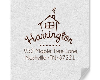 Personalized Address Stamps - Custom Address Stamper - New Home Address Stamp - Housewarming - DIY Printing - House Stamp - Personal Gifts