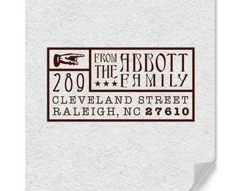Address Stamp - Custom Stamp - Personalized Address Stamp - Custom Address Stamp - Weddings - Housewarming - Vintage Style - DIY Printing