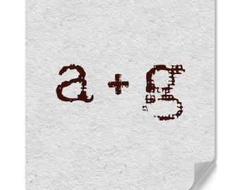 Monogram - Personalized Monogram Stamp - Custom Monogram Stamp - Two Letter Monogram - Housewarming - Typewriter - Couple - Wedding - Gifts