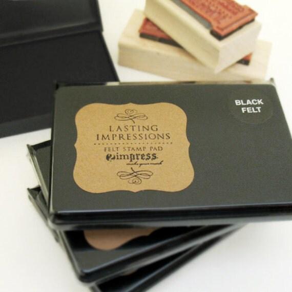 Stamp Pad Black Ink Felt Stamp Pads