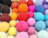 100 felted balls, Multicolor and Multi size Mix 15-18mm & 20-25mm