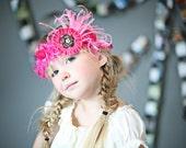 Hot Pink and Fancy Headband