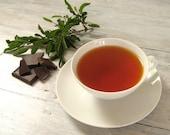 Chocolate Mint Rooibos Tea • 7 oz. Kraft Bag • Luxury Loose Leaf Herbal Blend