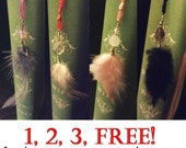 Buy 3 get 1 FREE Custom Feather Bookmarks (FREE Holiday gift wrapping )