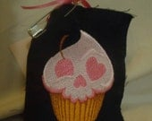 Skull Cupcake Embroidered Patch
