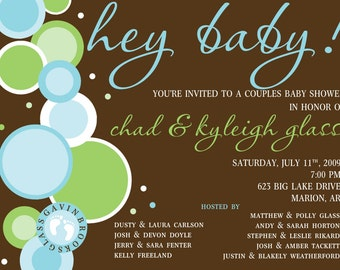 Baby Bubbles Printable Invitation