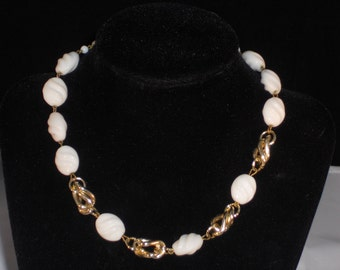 Vintage Milk Glass Western Germany necklace