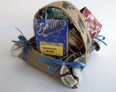 Holiday Coffee Lovers Burlap Gift Basket