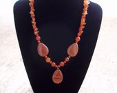 Carnelian and Red Jasper Necklace