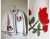 ON HOLD-Red Rose Cardigan-ROSEY
