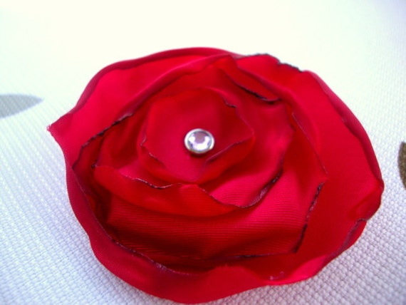 Sexy Red Flower Hair Clip