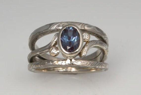Custom Designed Unique Mokume Gane Ring Made to Order