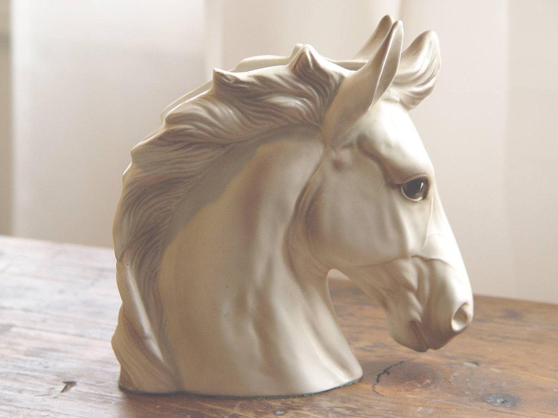 Vintage Lefton Horse Head Planter Sculpture Container