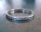 Platinum and Diamond Eternity Ring from 1920's