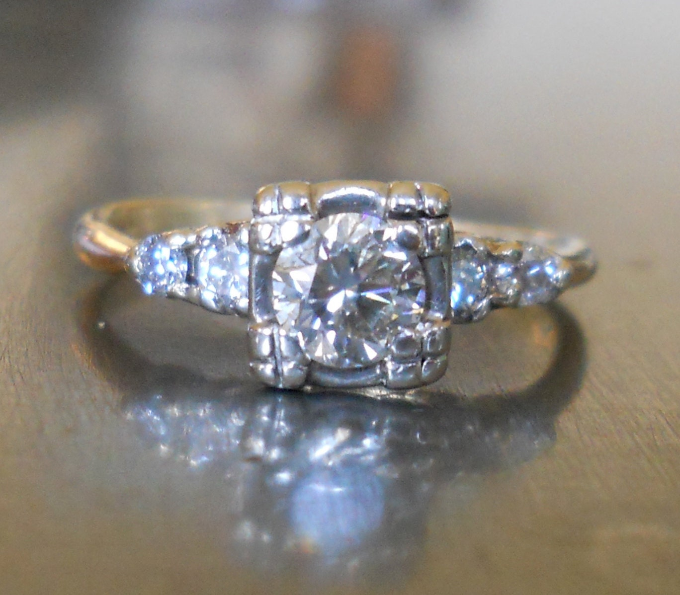 Engagement Ring  Antique Diamond From 1930's 🔎zoom