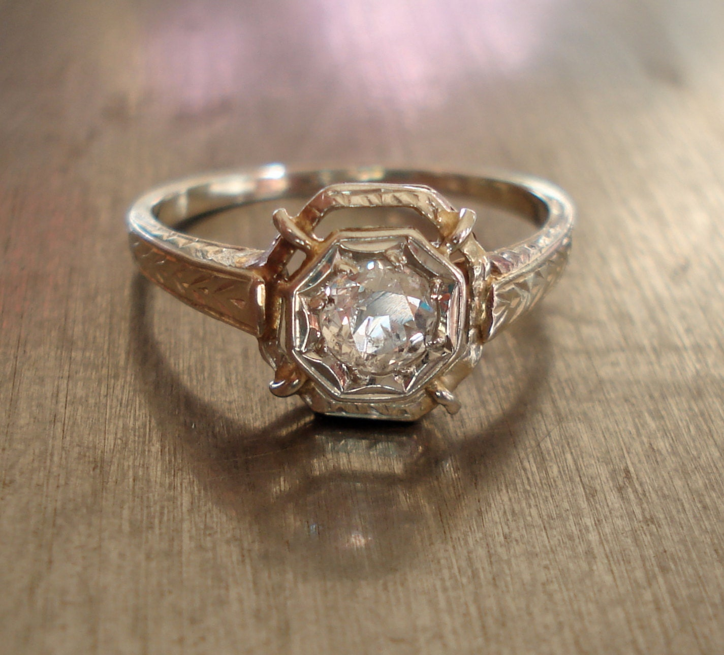 antique deco engagement ring