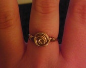 Rosebud wire wrapped ring