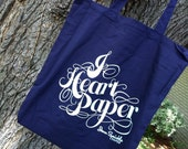 I Heart Paper -  Lightweight Canvas Tote Bag