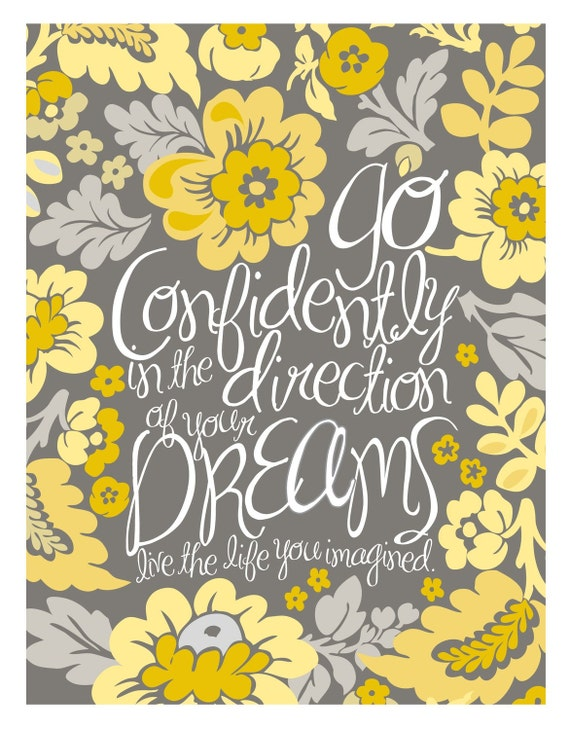 11x14 Poster - Go Confidently - Yellow