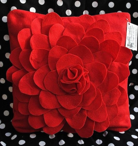 Красный цветок Войлок Чехол