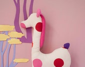Hand made giraffe in coton fabric