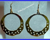 Punctuated Hoops of Interest Gold Earrings