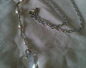 Vintage chandelier glass drop necklace
