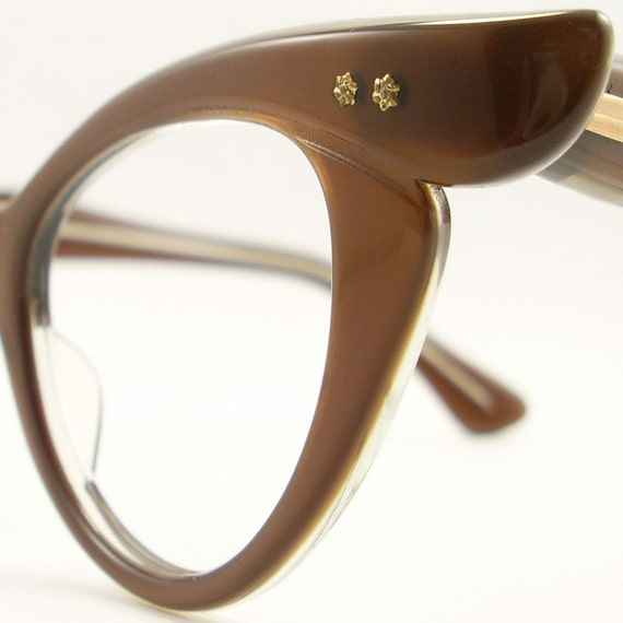 Vintage 50s Frame France Cat Eye Glasses Eyeglasses Sunglasses New