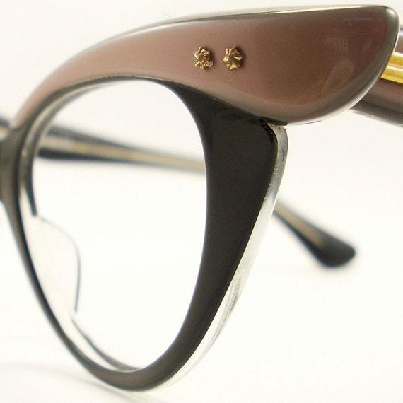 Vintage 50s Frame France Cat Eye Glasses Eyeglasses Sunglasses New