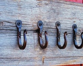 "Wrought Iron 1"" Twist Hooks, Set Of 6"