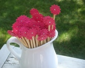 Stir Sticks, Paper Flower customizable for your wedding or special occasion