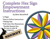 Hex Sign Braucherei Pow-Wow Empowerment Instructions for your Artwork, Spell, Wicca, Pagan,4  Book of Shadows Art Pages