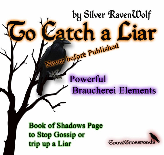 To Catch A Liar/ Stop Gossip Spell, Wicca, Pagan, Book of Shadows Art Page