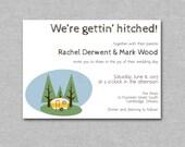 Printable DIY Wedding Invite - Retro Airstream Camper Wedding Invite Set