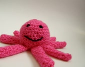 Little Pink Octopus -hand crocheted animal toy
